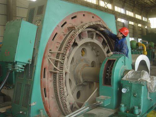 3200KW高压同步机现场检修